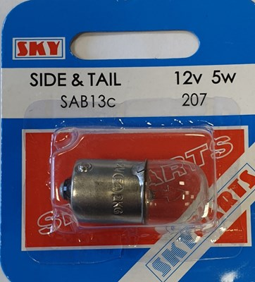 BULB SKY SIDE & TAIL 207 SAB13C (Pack of 10)