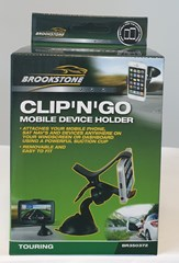 BROOKSTONE CLIP N GO PHONE HOLDER