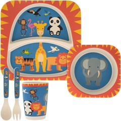 BAMBOO ECO EATING SET ZOO
