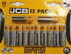 JCB LR6 /AA SUPER ALKALINE, PACK OF 12