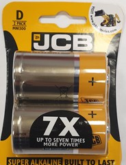 JCB LR20/D SIZE SUPER ALKALINE, PACK OF 2