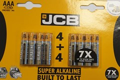 JCB AAA 4+4 PACK BATTERIES